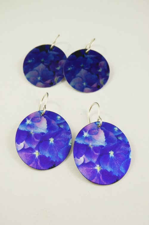hydrangea flower earrings (3)