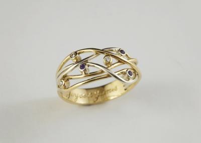 9ct yellow & white gold ring