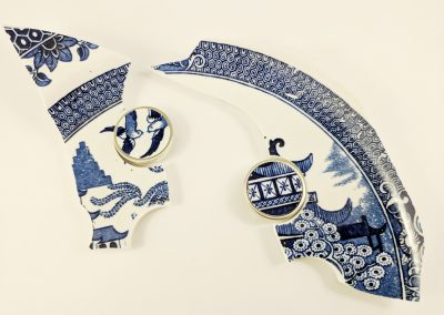 Porcelain Plate Brooches