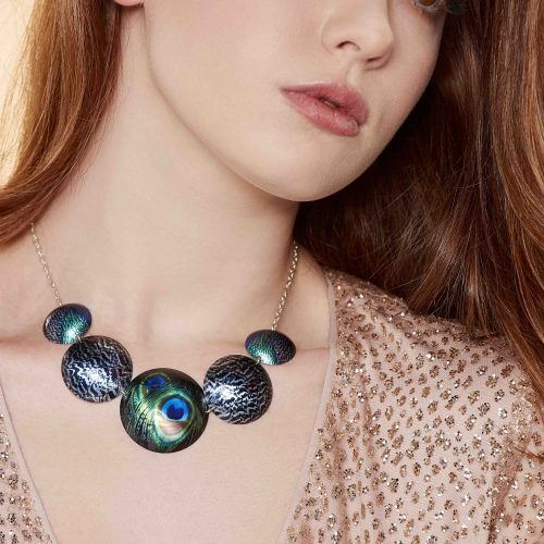statement-necklace-peacock-plumage-feathers-sublimated-aluminium