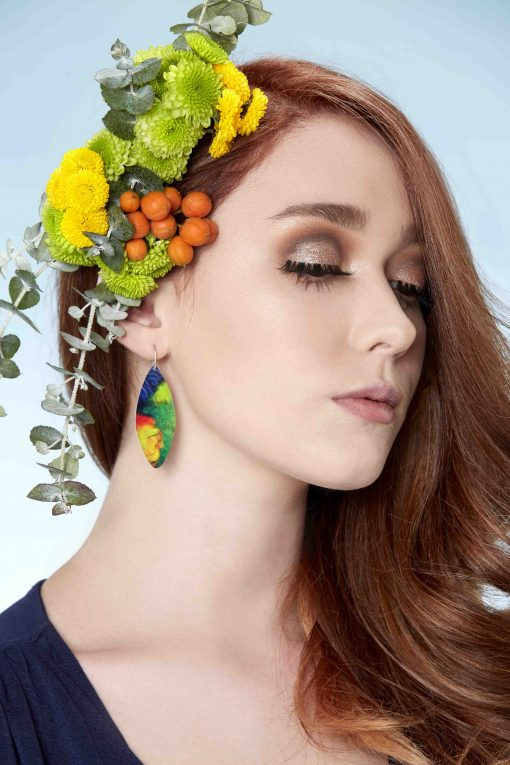 handmade-earrings-rainbow-lorikeet-feathers-sublimation-aluminium