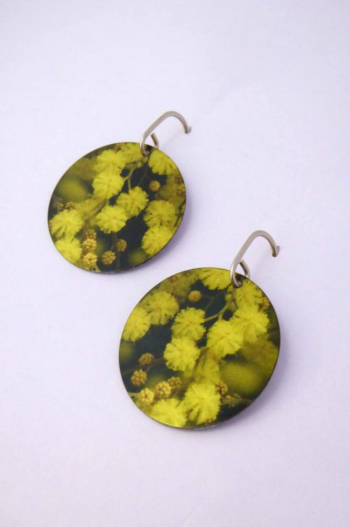wattle-photograph-contemporary-earrings-sublimated-handmade
