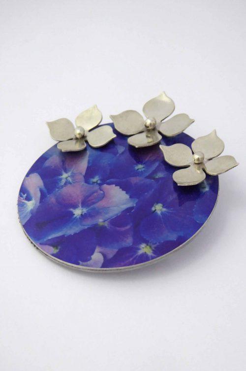 handmade-hydrangea-brooch-sublimated-aluminium-sterling-silver