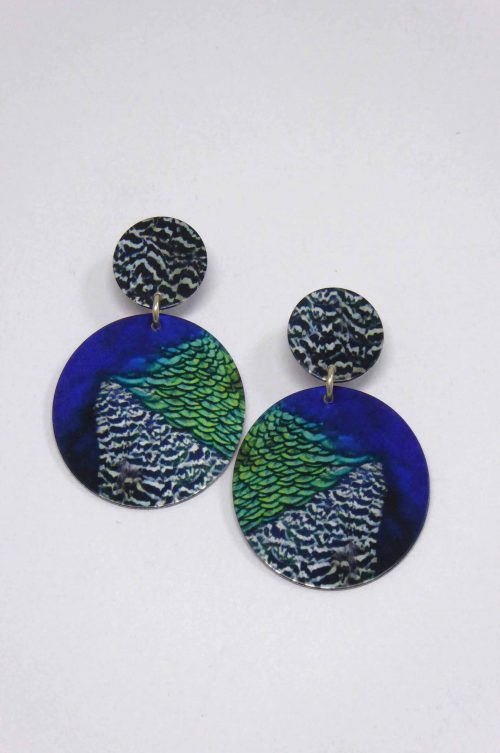 peacock-feather-stud-earrings-disc-photograph-sublimation
