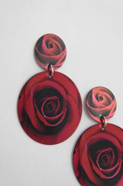 flowers-unique-earrings-red-rose-gift-idea-sublimated