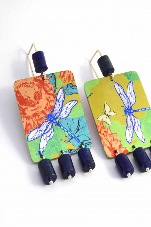 limited-edition-earrings-sublimated-aluminium-lapis-lazuli-dragonfly