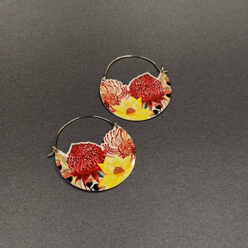 native-bloom-hoop-earrings-limited-edition-sublimated-Aluminium