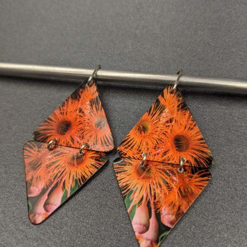 flowering-gum-native-Australiana-earrings-Aluminium
