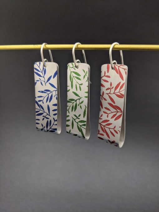 handmade-rectangle-drop-earrings-foliage-printed-aluminium